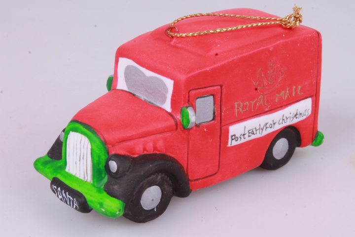 *9cm Royal Mail Van Christmas Decoration