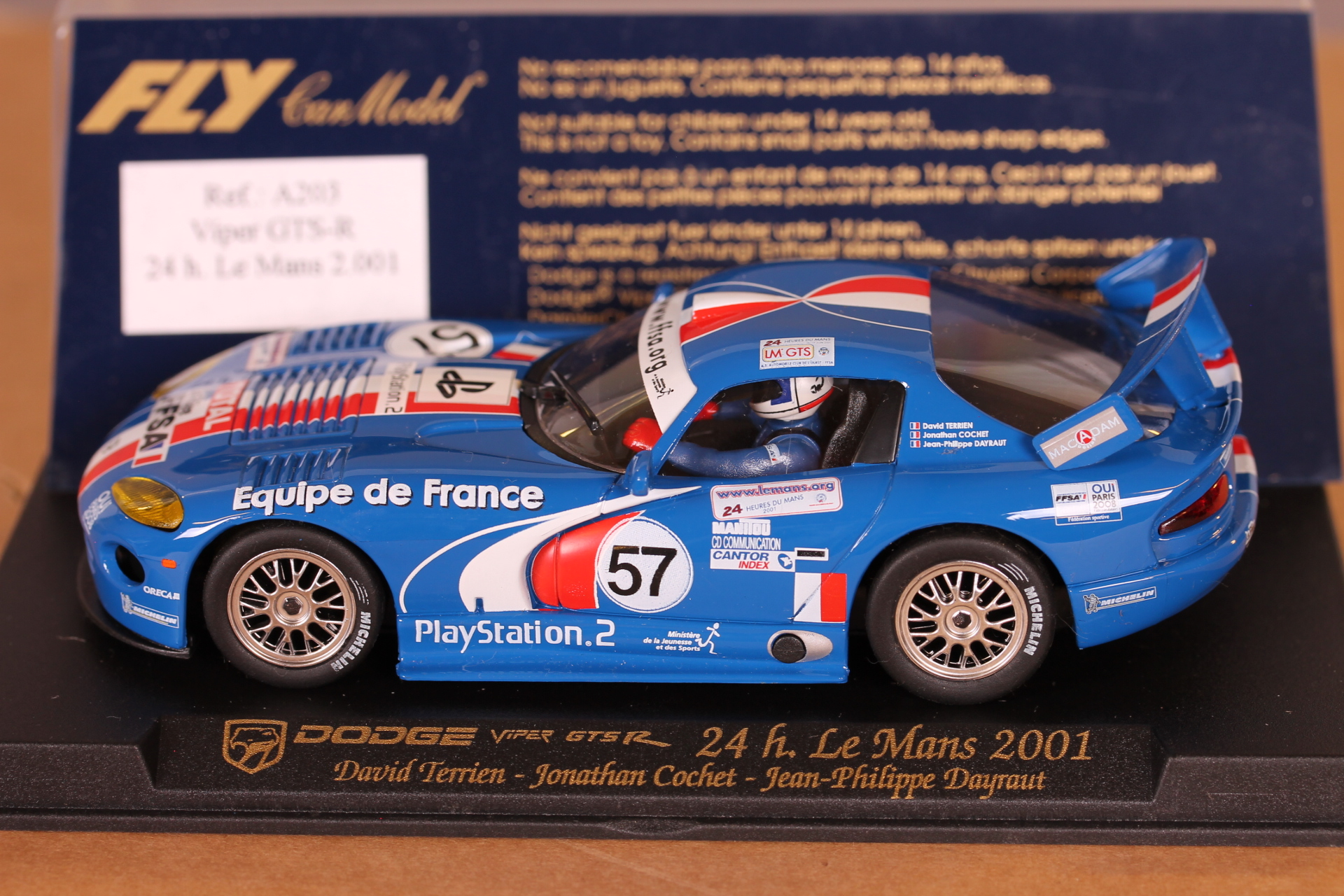 *1/32 FLY A203 2001 Dodge Viper GTS R Le Mans #57 (like new)
