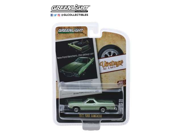 1/64 Greenlight 39020 1972 Ford Ranchero green