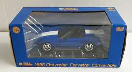 1/24 Greenlight 50230 1996 Chevrolet Corvette Grand Sport Convertible blue
