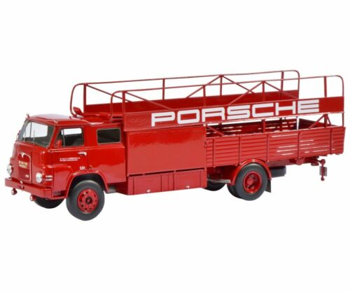 1/18 Schuco 450008100 MAN Porsche Race Car Transporter